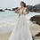 calla blanche Joanne wedding dress front