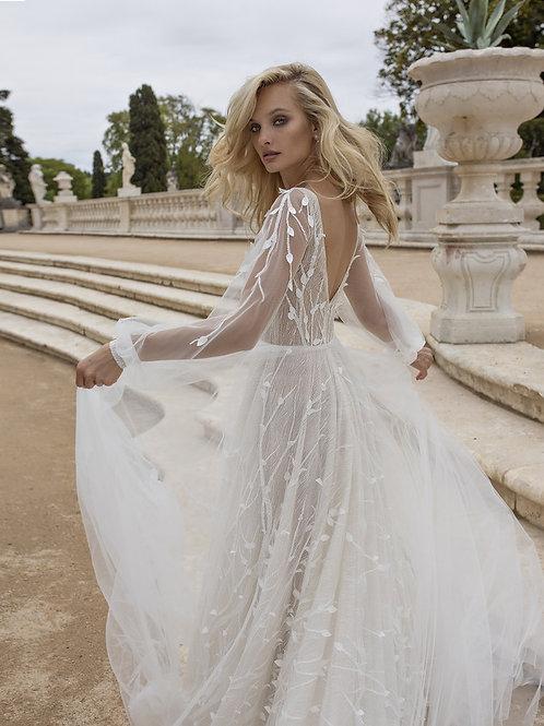 Eva Lendel Lima long sleeve a-line wedding dress