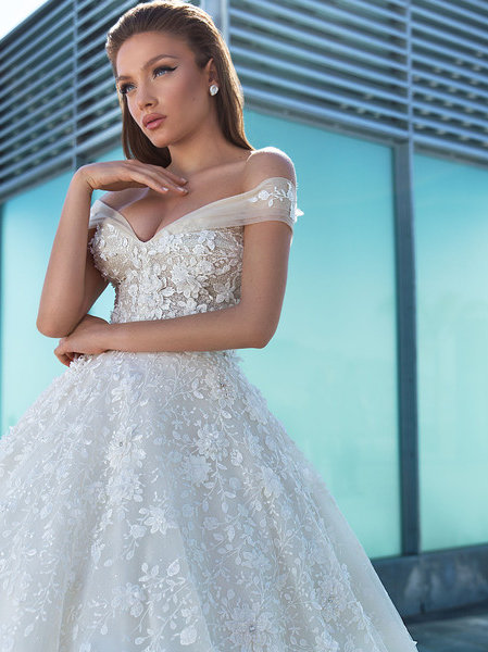 Wona Concept Margarita wedding dress front - Superior Bridal Couture Toronto