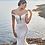 calla blanche iris wedding dress front
