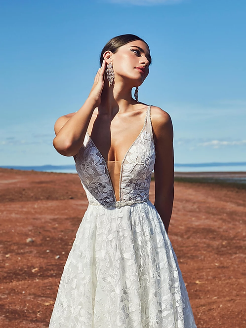calla blanche margot wedding dress front
