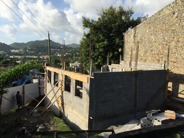 Construction of New Library Building