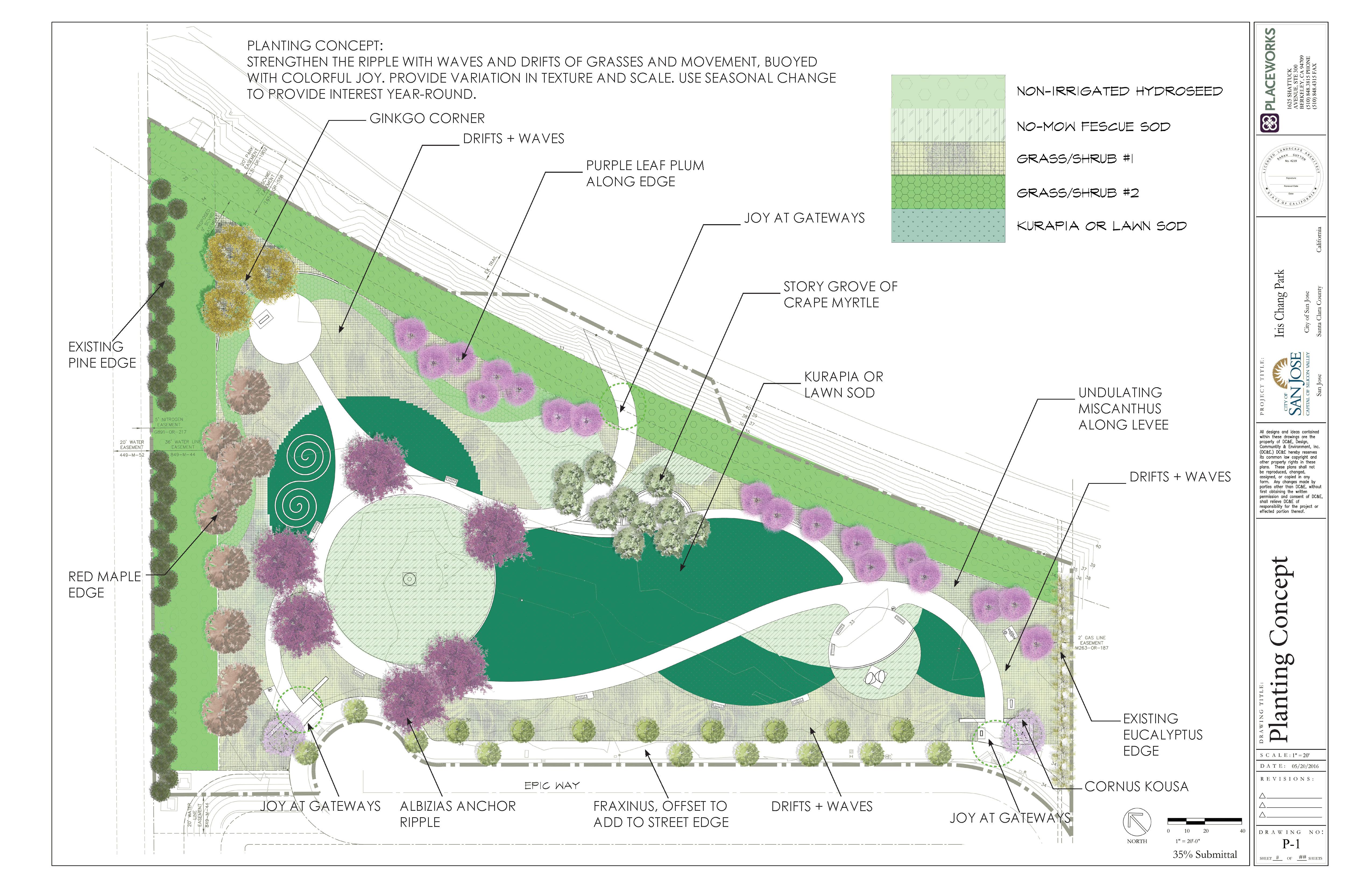 Iris Chang Park Planting Plan