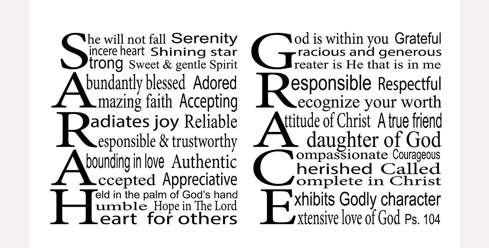 Custom design example (Sarah Grace)