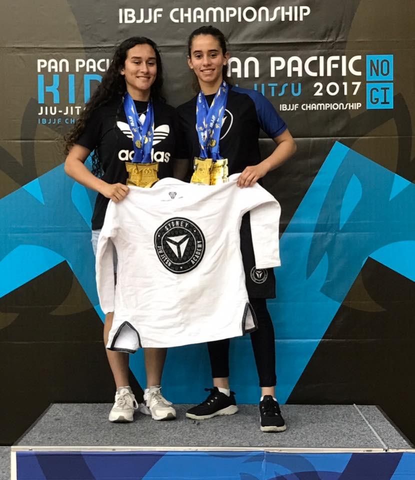 Sam & Tamara Garces Gold at Pan Pacs 2017 SJJA Total Health Performance Camden Crows Nest Ingleburn Campbelltown
