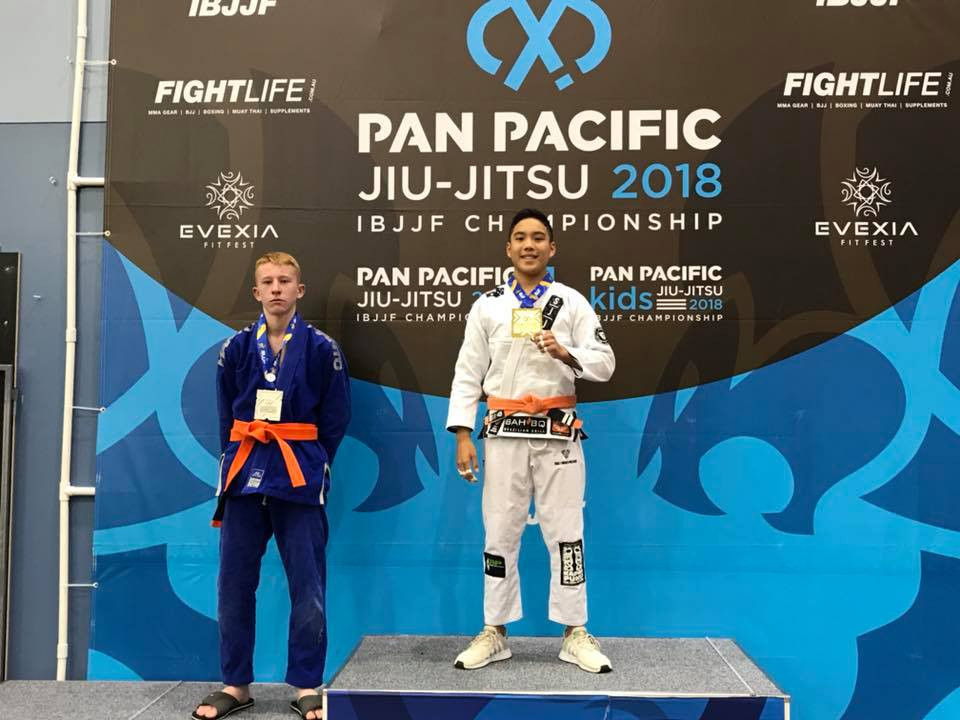 Jiu-Jitsu Pan Pacs Gold Simon SJJA Total Health Performance Camden Narellan Ingleburn Campbelltown