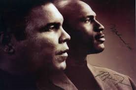 Michael Jordan and Muhammed Ali