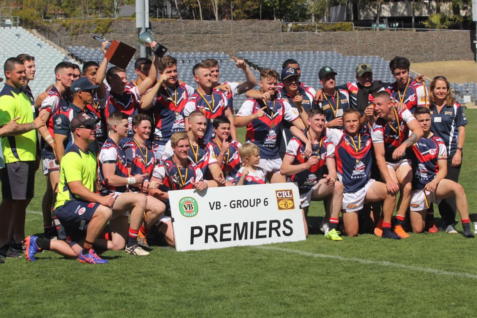 Camden Rams Rugby League Premiers Total Health Performance Cam Lawrence Jay Kirk Ryan Evans