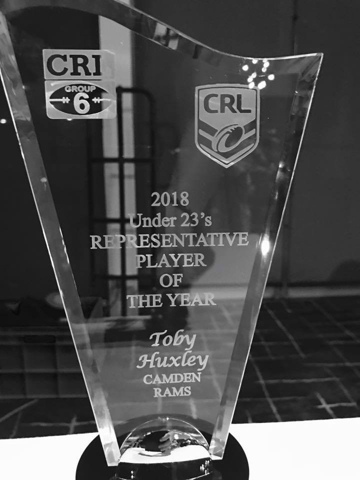 Total Health Performance Rugby League Toby Huxley CRL Representative Player of The Year