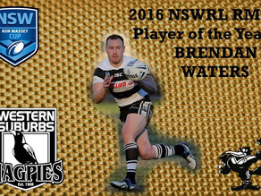 2016 Brad Fittler Medal Awards Night - Ron Massey Cup Player of the Year