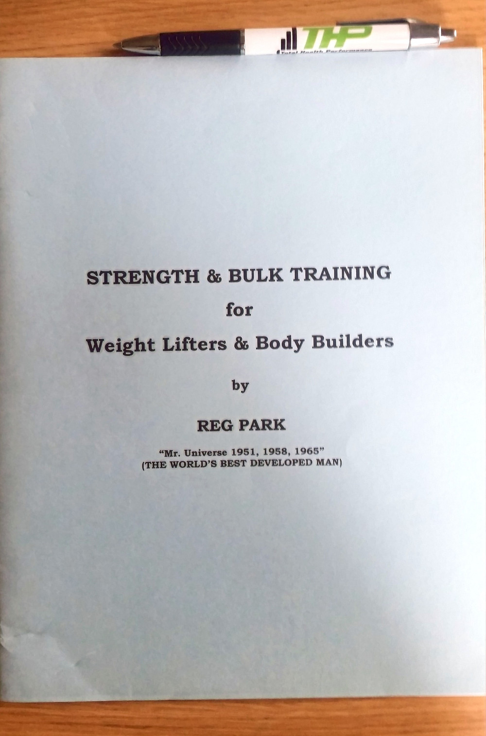 Reg Park Strength and Bulk Training Book Total Health Performance Narellan
