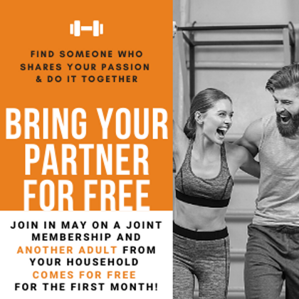 BRING YOUR PARTNER FOR FREE (1 MONTH)
