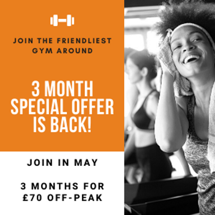 3 months for £70! Off Peak Introductory Offer