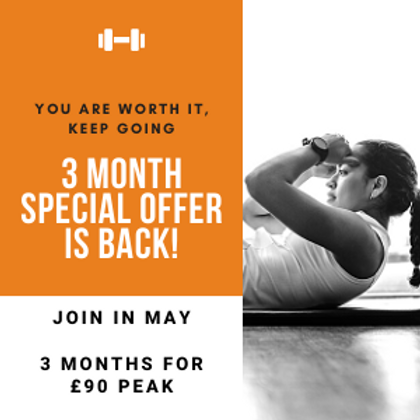 3 Months for £90! Peak Introductory Offer!