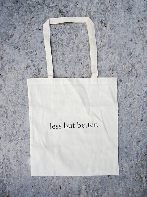 Less But Better | Beutel