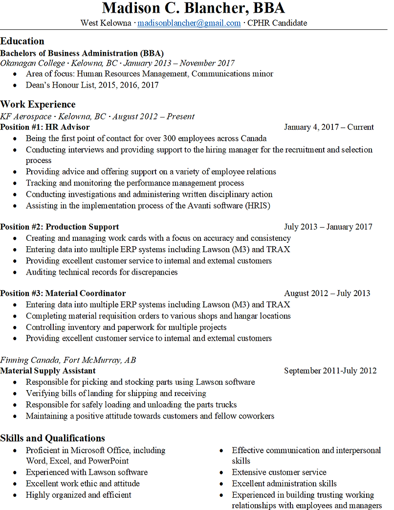 Madison Blancher The Learning Professional Resume