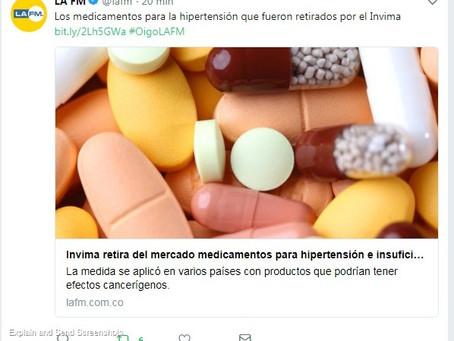 Los medicamentos para la hipertensión que fueron retirados por el Invima