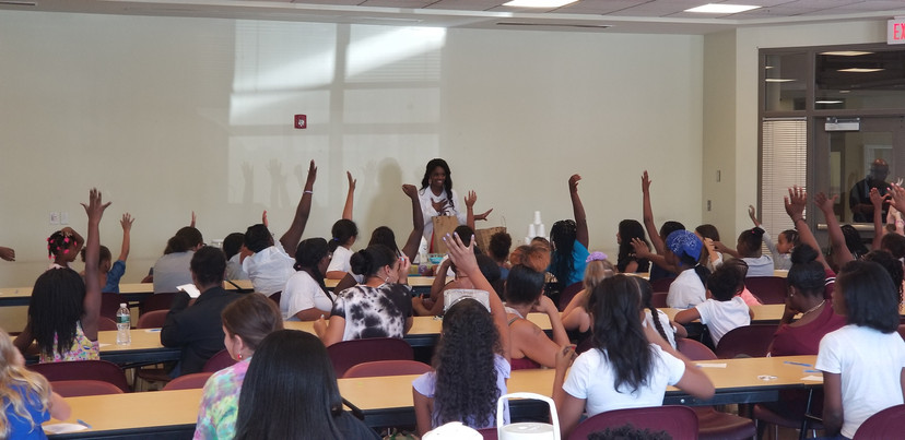Jackie Teaching at Her Girls Empowerment STEM Event