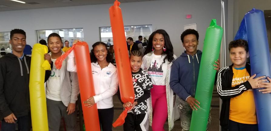 Jackie Teaching Kids About Bernoulli's Principle