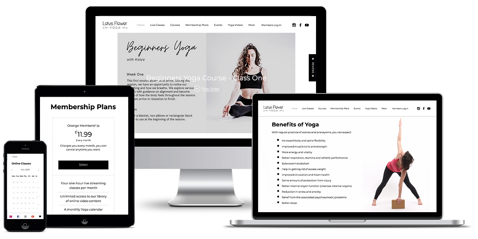 Lotus Flower Yoga Membership on various devices.png