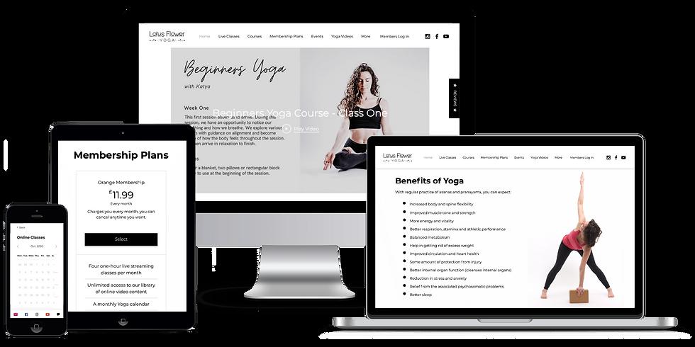 Lotus Flower Yoga Membership on various devices.png