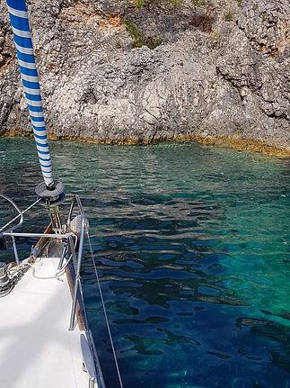 Skipper-Training: Anlaufen einer Anker-Bucht