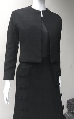 Dior Paris black skirt suit CU_edited