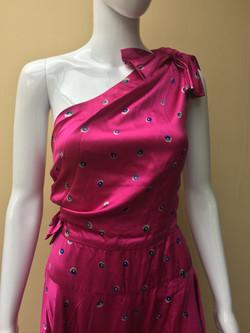 Dior London hot pink evening dress CU_ed