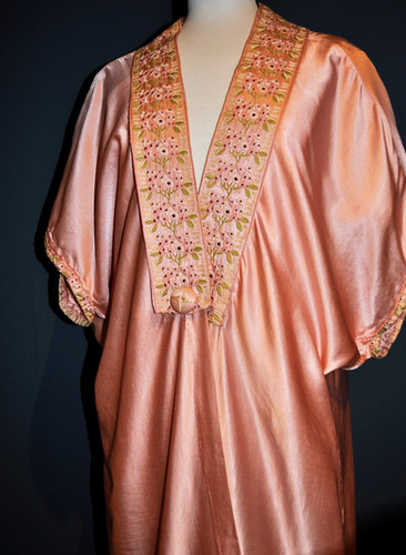 Liberty & Co,  Satin embroidered robe by Paul Poiret
