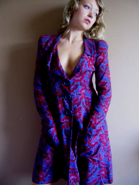 Biba print linen coat