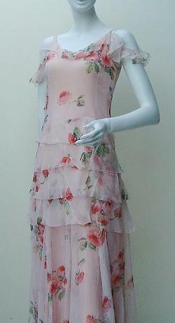 1930s rose chiffon
