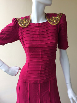 late 1930s with gold leather trim