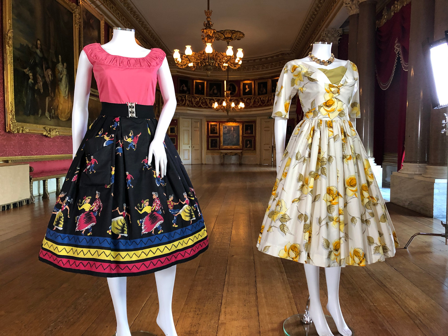 1950s fashion in the ballroom, Goodwood House