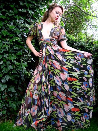 Ossie Clark chiffon dress