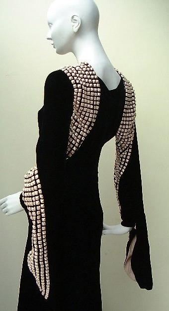 Paquin 1930s velvet gown