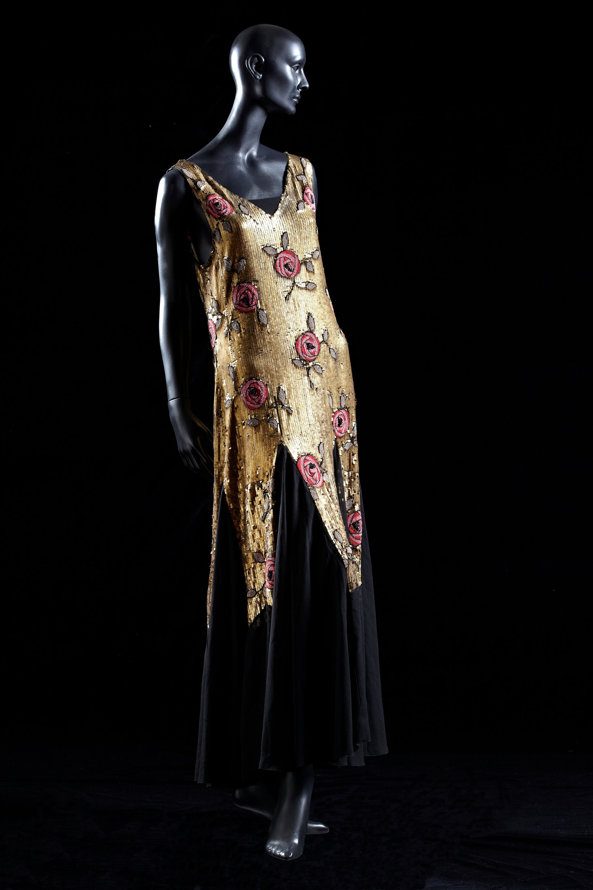 1920's gold sequin dress