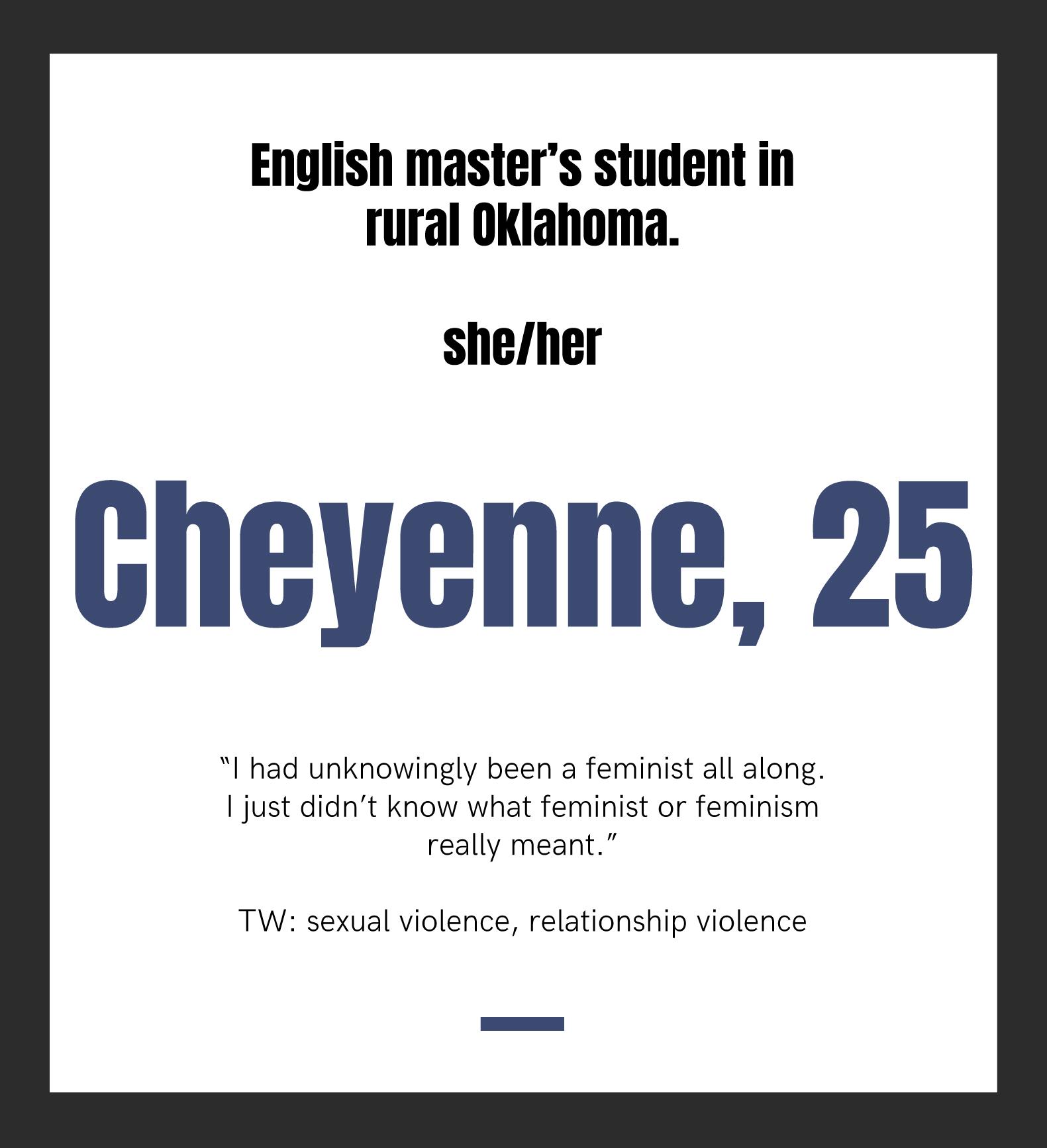 Cheyenne, 25