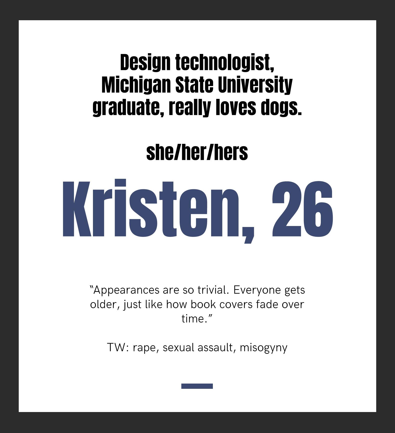 Kristen, 26