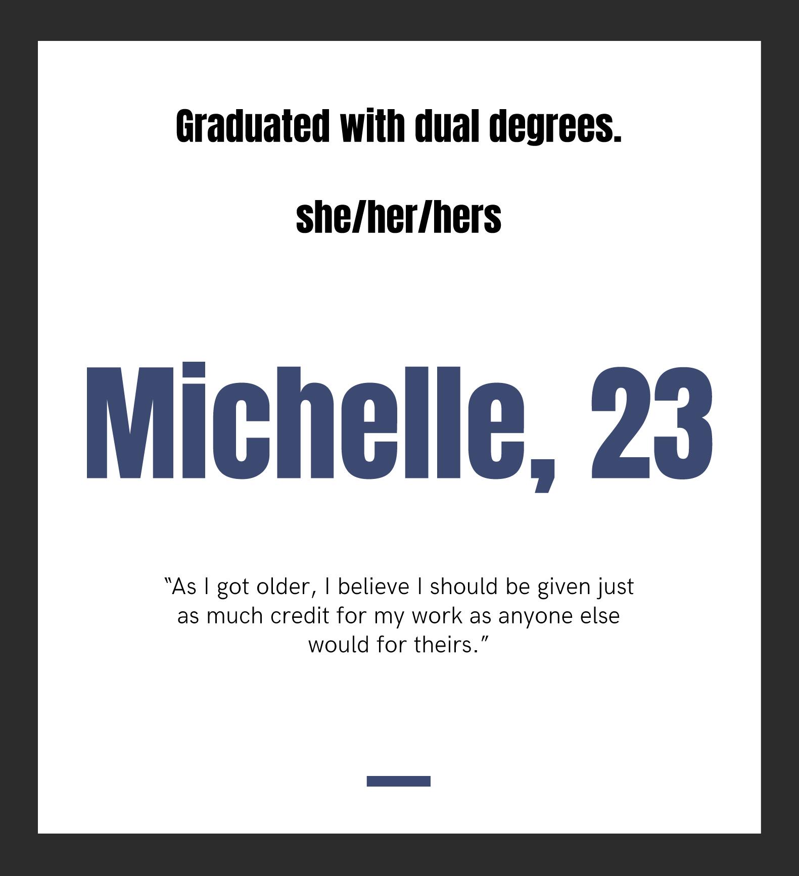 Michelle, 23