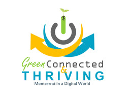 Green, Connected, Thriving Logo Prop