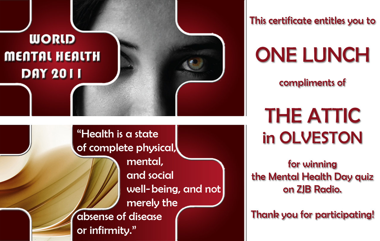 World Mental Health Day Certificate