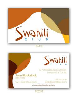 Swahili Blue Business Card Proposal