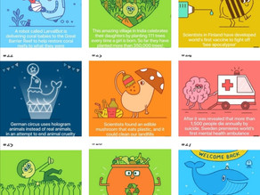 50 illustrations of Positive World updates!