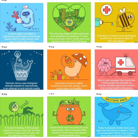 50 illustrations of Positive World updates!
