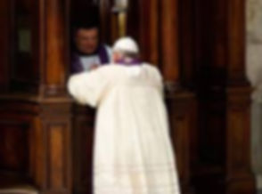 Pope going to confession.jpg