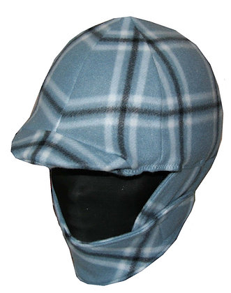 Grey & Black Plaid Fleece