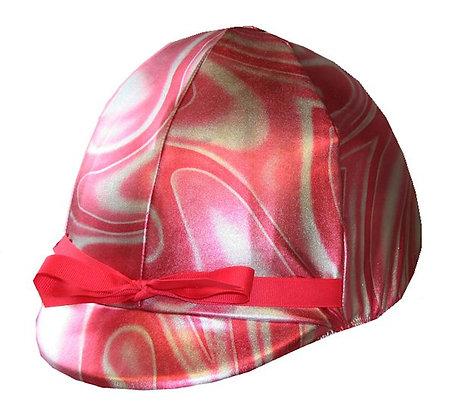 Hot pink foil swirl