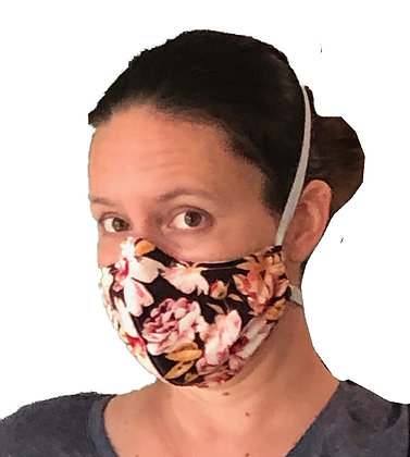 Pink and Brown Roses Face Mask