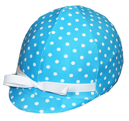 Turquoise and White Polka Dots