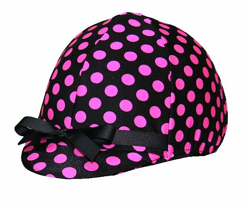 Hot Pink and Black Polka Dots
